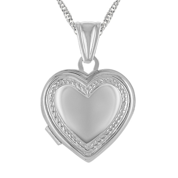 Heart Locket in Sterling Silver (18 in)