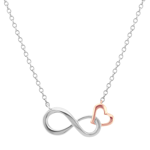 Infinity Heart Necklace (18 in)