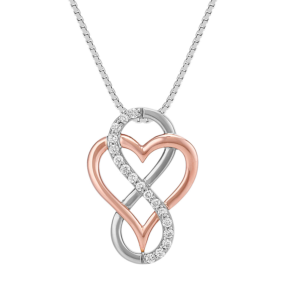 7eb6bbc3dfa7 Intertwined Infinity and Heart Diamond Pendant (20 in)