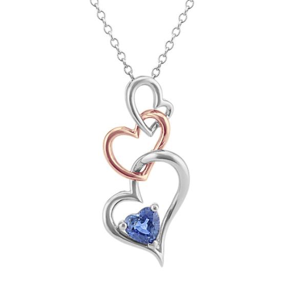 Kentucky Blue Sapphire Sweetheart Pendant (20 in)