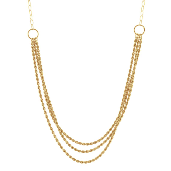 Layered Necklace in 14k Yellow Gold (18 in)