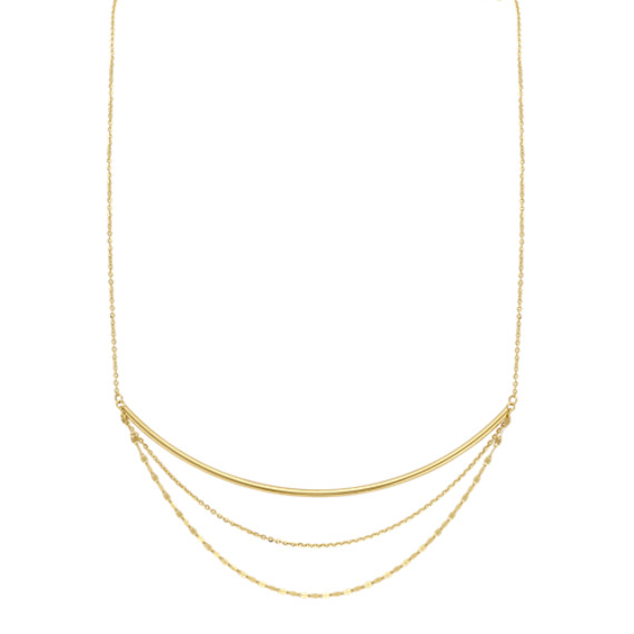 Layered Necklace in 14k Yellow Gold
