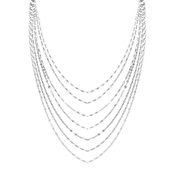 Layered Necklace in Sterling Silver (18 in)