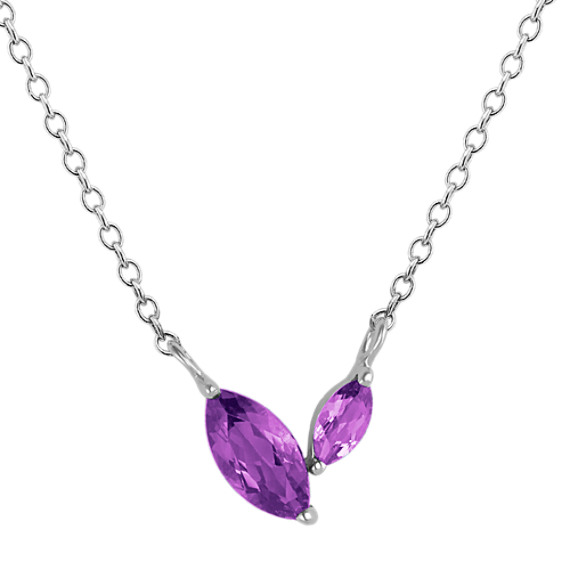 Marquise Amethyst Necklace (18 in)