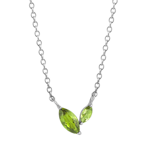 Marquise Green Peridot Necklace (18 in.)