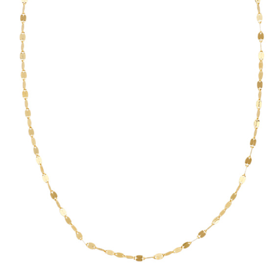 Mirrored Necklace in 14k Yellow Gold (18 in)