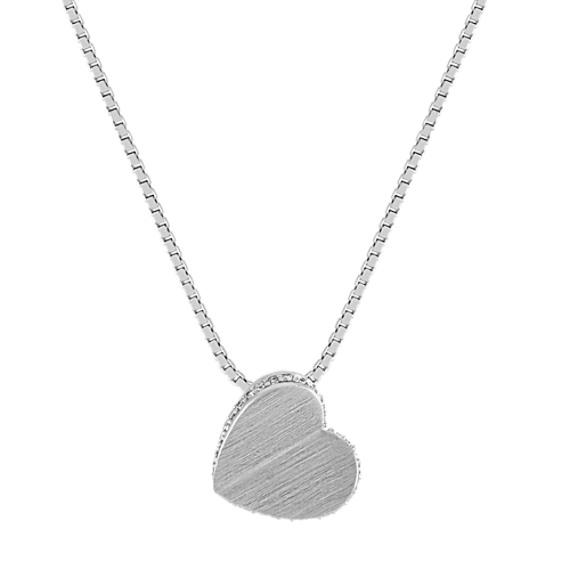 Modern Diamond Heart Pendant (18 in)