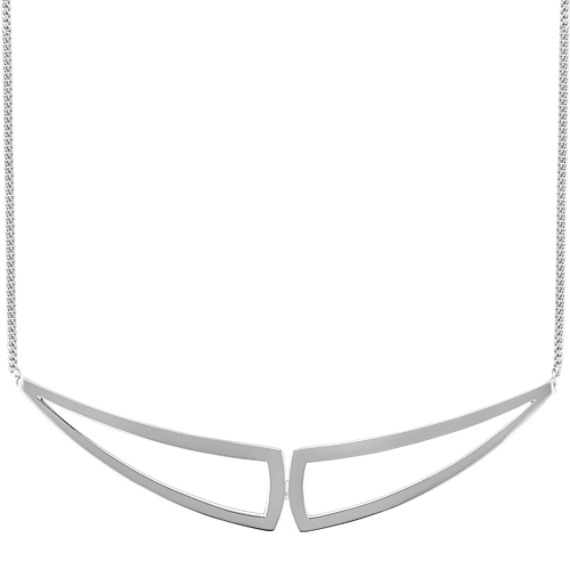 Modern Sterling Silver Necklace (18 in)