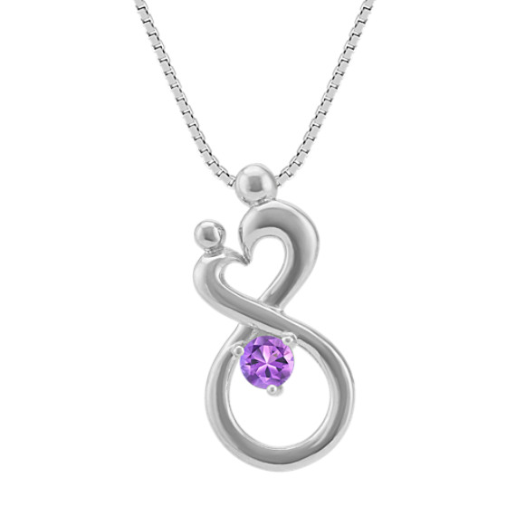 Personalized Mother & Child Infinity Pendant (18 in)