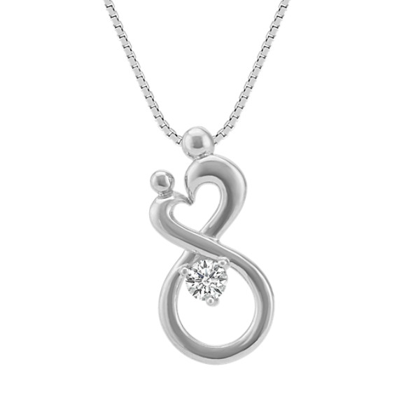 Personalized Mother & Child Infinity Pendant (18 in) image