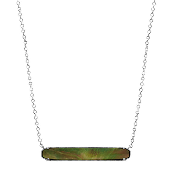 Mother-of-Pearl Bar Necklace (18 in)