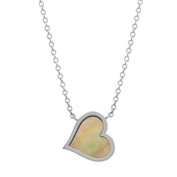 Mother-of-Pearl Heart Necklace (18 in)