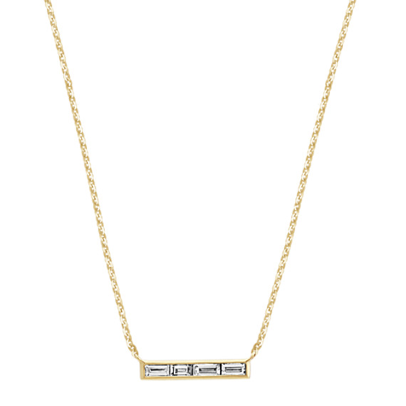 Baguette Diamond Necklace (18 in)