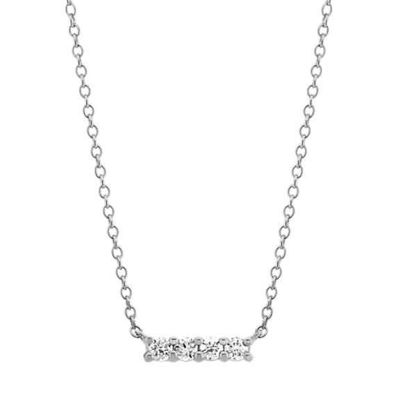 Pave-Set Diamond Necklace in 14k White Gold (18 in)