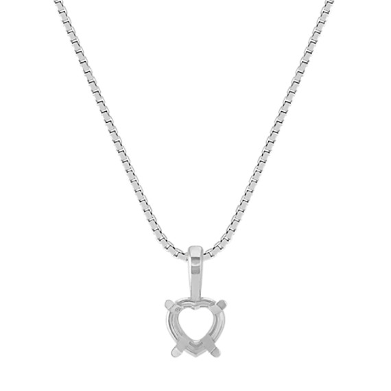 Pendant with Heart Basket to hold .50 ct. Stone (18 in)