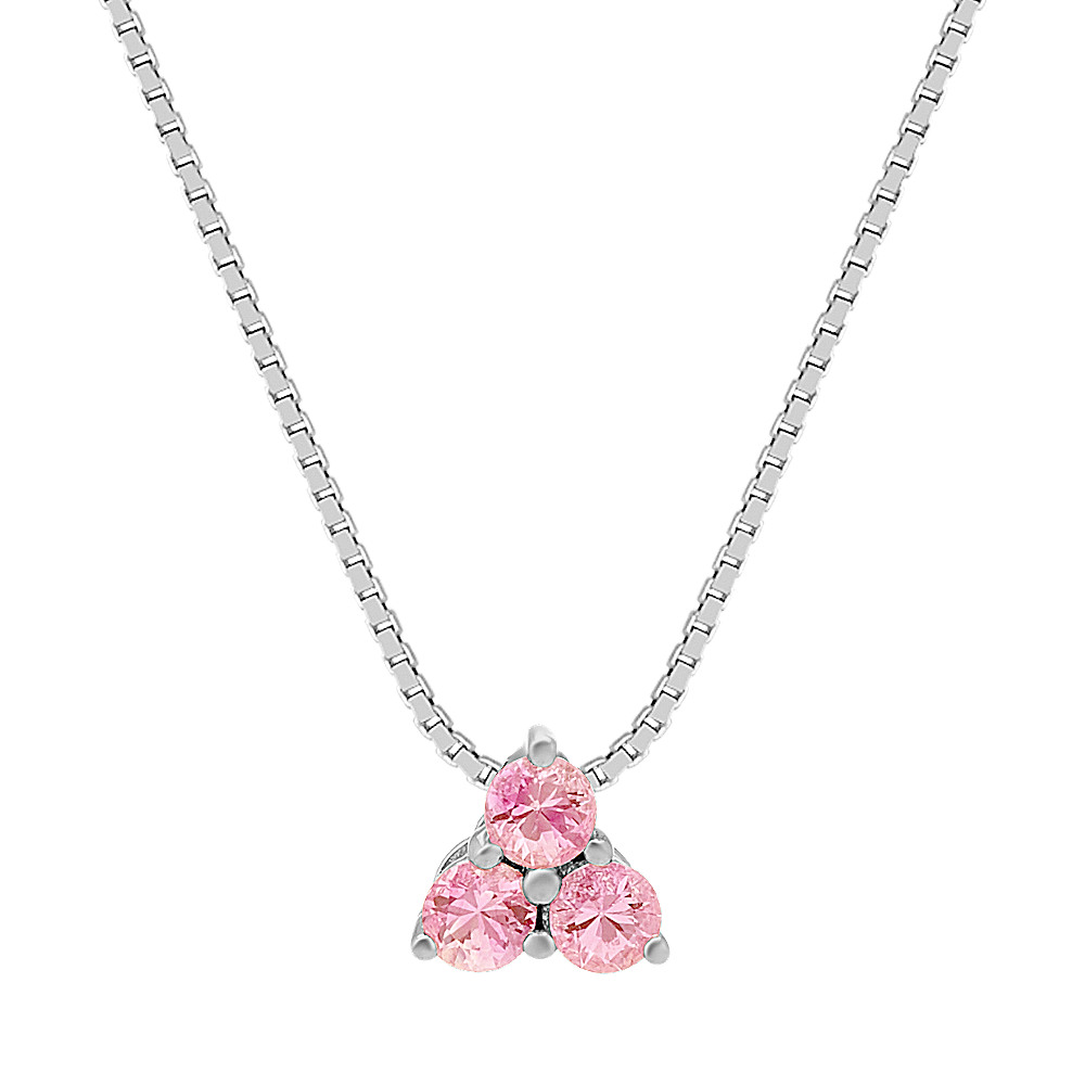 sapphire and mother silver created pendant ct in pink child sterling itm