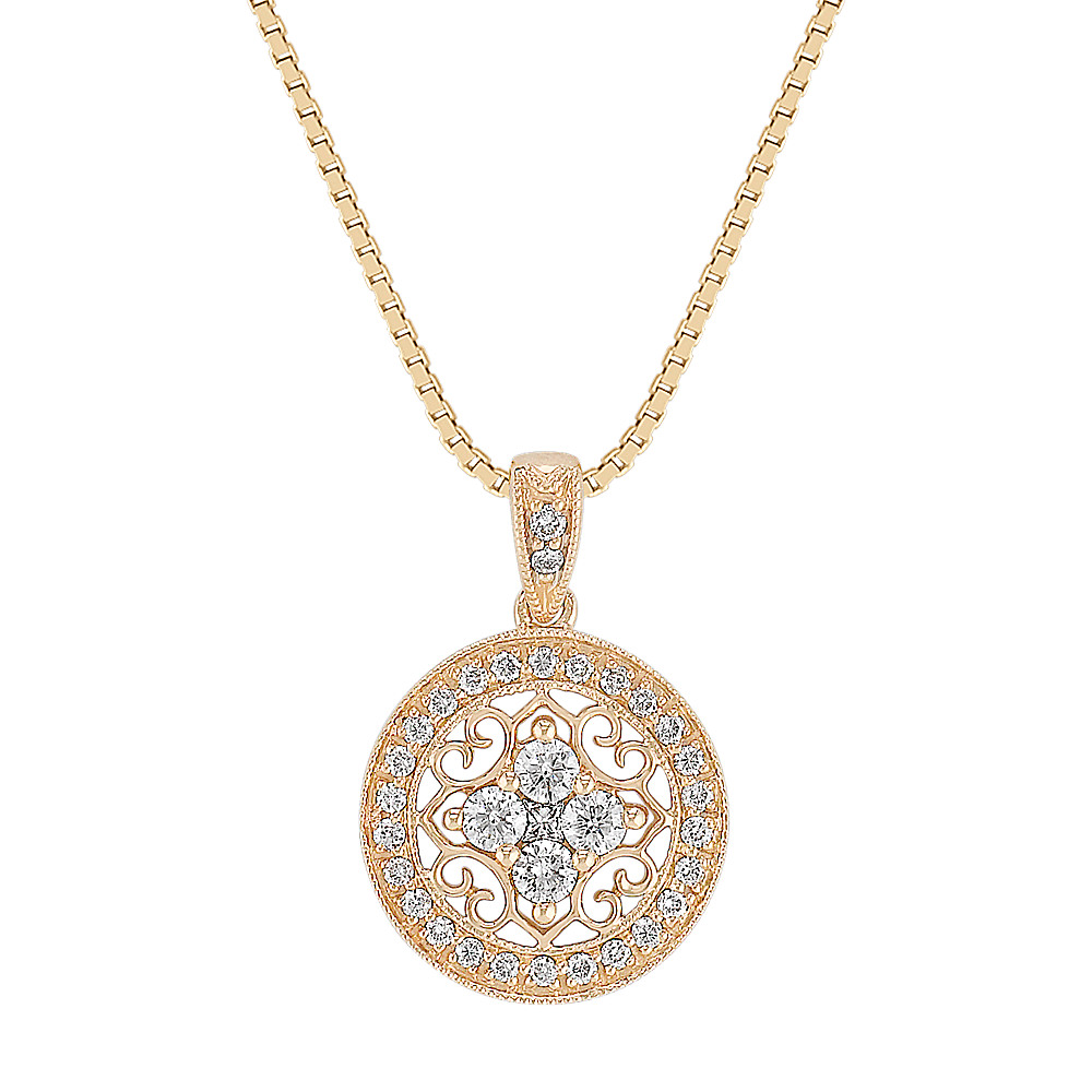 desert princess carat gold diamond pendant necklace pin cut