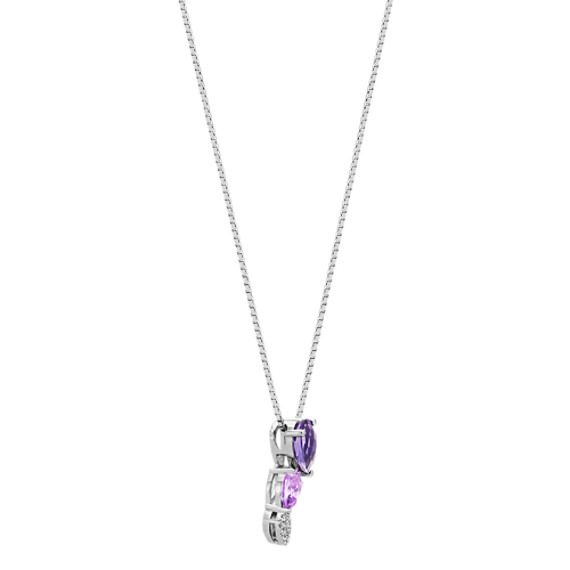 Amethyst and Diamond Pendant (20 in.) image
