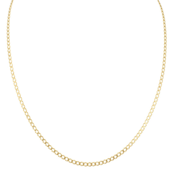 Rombo Curb Chain in 14k Yellow Gold (18 in)