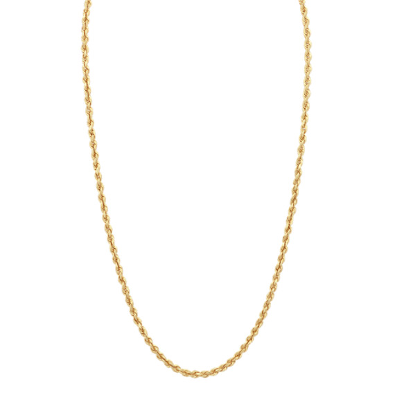 Rope Necklace in 14k Yellow Gold (24 in)