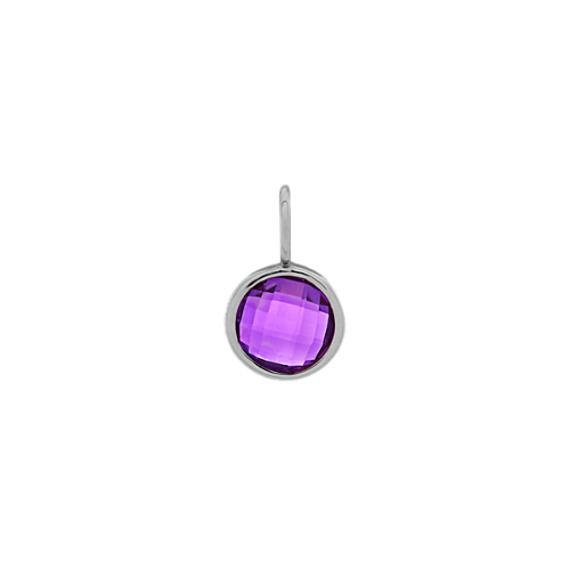 In Awe of You - Amethyst Charm in 14k White Gold