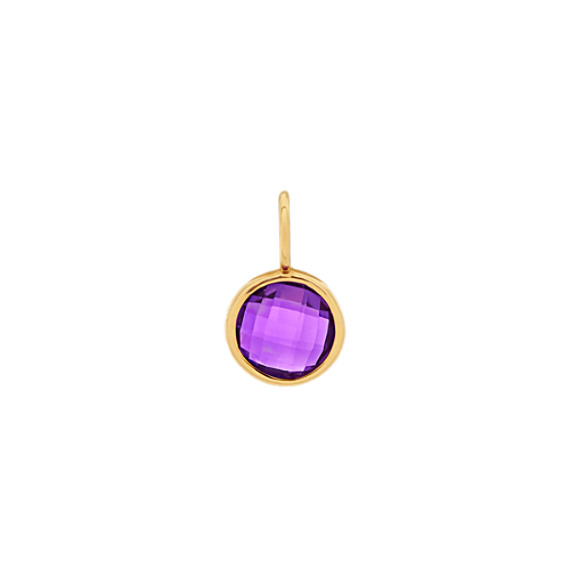 In Awe of You - Amethyst Charm in 14k Yellow Gold