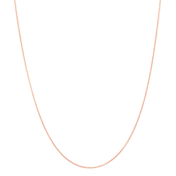 Round Cable Chain in 14k Rose Gold (18 in)