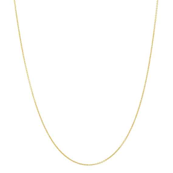 Round Cable Chain in 14k Yellow Gold (30 in)