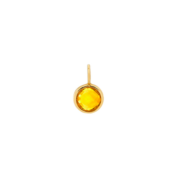 I Love Our Adventures - Citrine Charm in 14k Yellow Gold