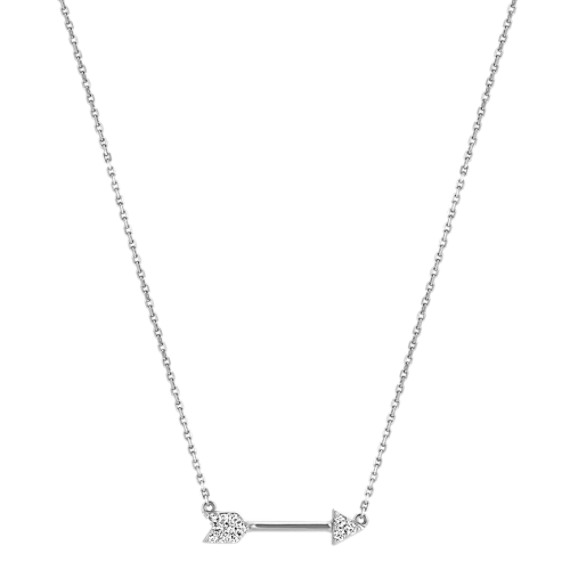 14k Solid Yellow Gold Arrow Necklace
