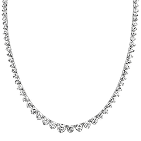 Round Diamond Eternity Necklace (16 in)