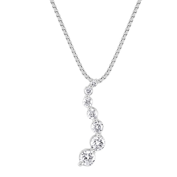 Round Diamond Journey Pendant (18 in)