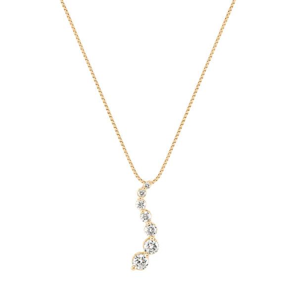 Round Diamond Journey Pendant (18 in) image