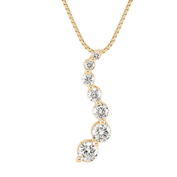 Round Diamond Journey Pendant (18 in)