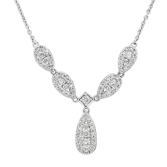 Round Diamond Necklace (18 in)