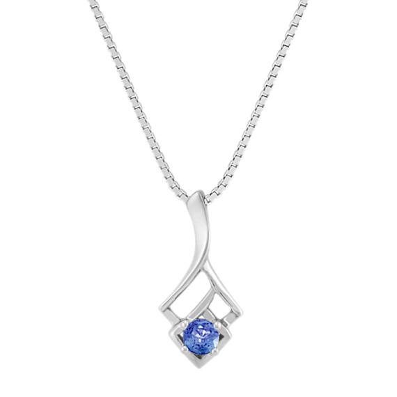 Round Kentucky Blue Sapphire Pendant (18 in)