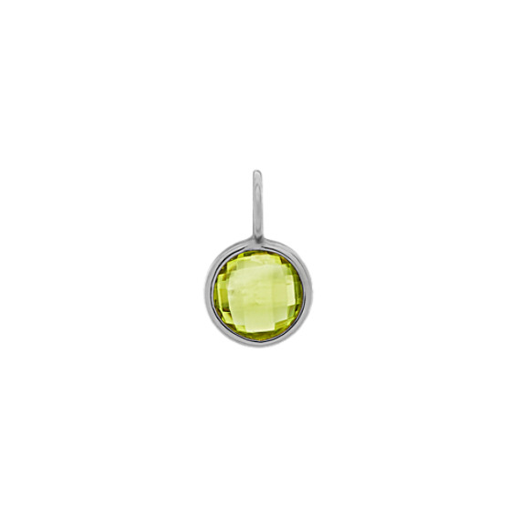 I Will Be Right Here - Peridot Charm in 14k White Gold