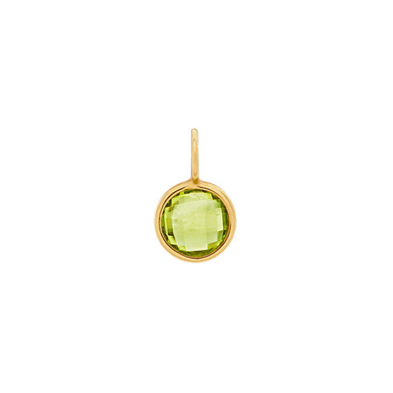 I Will Be Right Here - Peridot Charm in 14k Yellow Gold