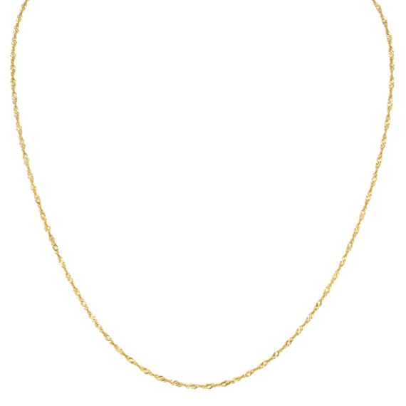 Singapore Chain in 14k Yellow Gold (24 in)