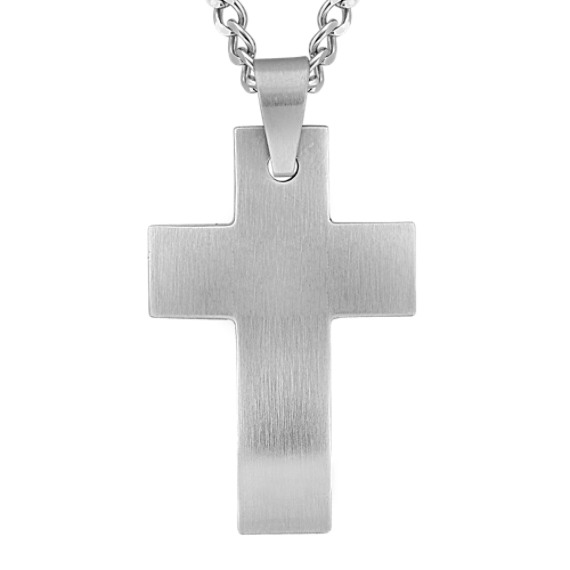 Stainless Steel Cross Necklace (24 in)