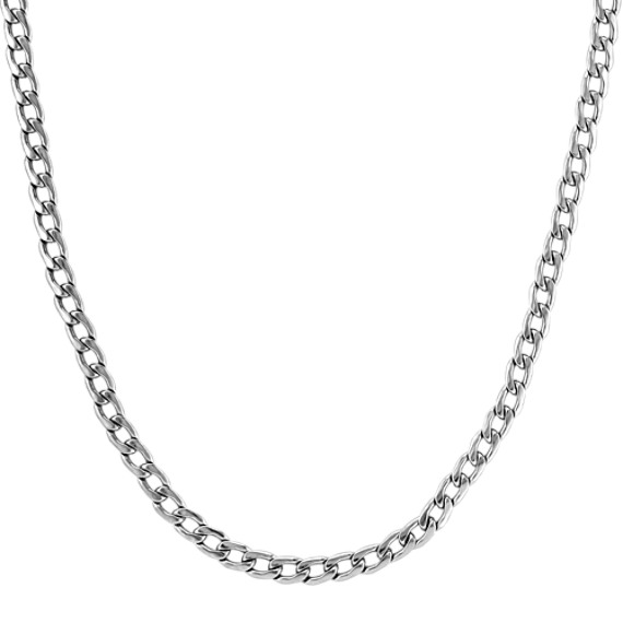 24 inch Mens Stainless Steel Necklace