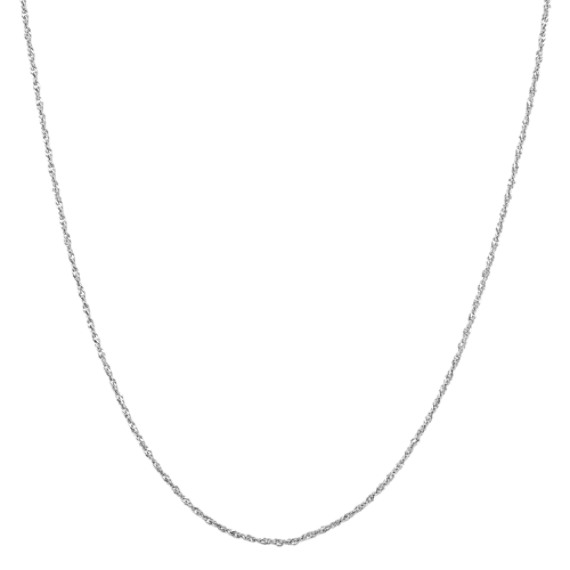 Sterling Silver Adjustable Singapore Chain (20 in)