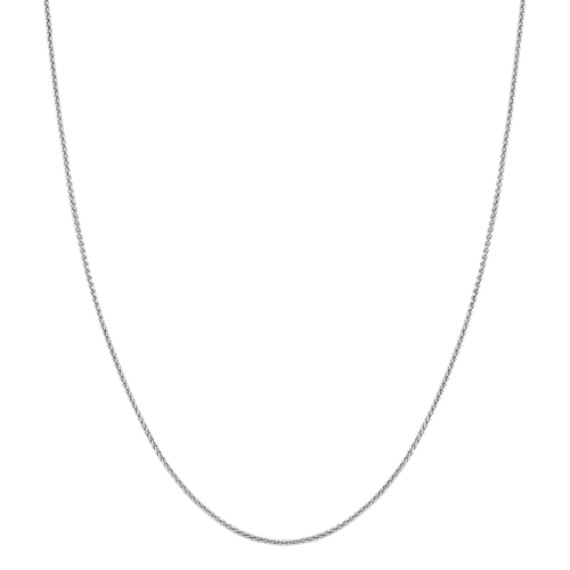 Sterling Silver Adjustable Wheat Chain (24 in)