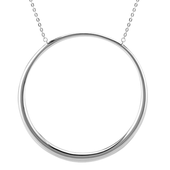 Sterling Silver Circle Necklace (30 in.)
