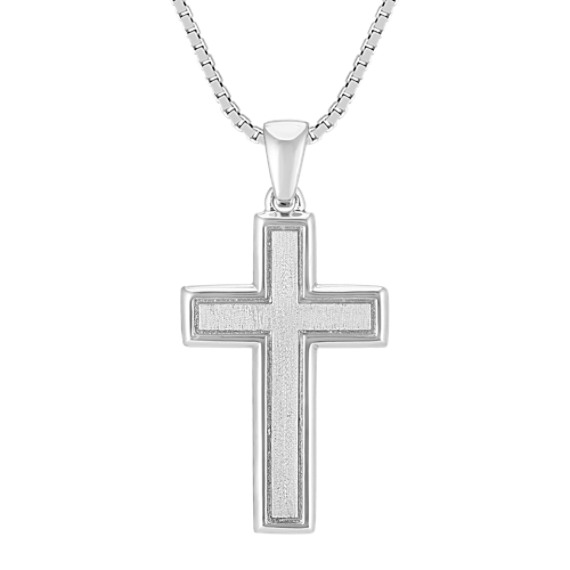 Sterling Silver Cross Necklace (20 in)