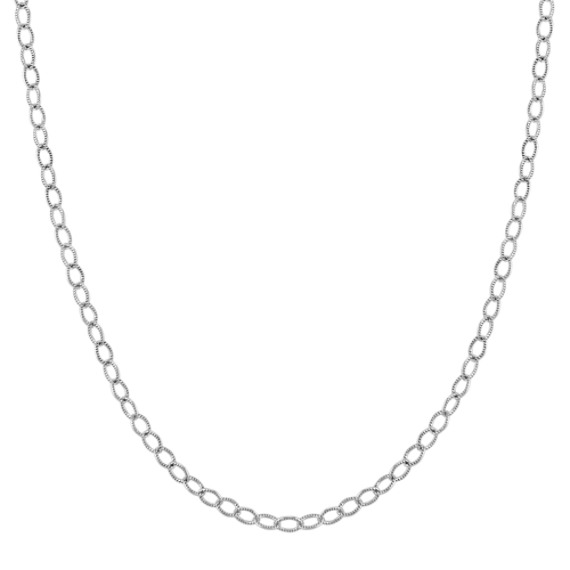 Sterling Silver Curb Chain (20 in)