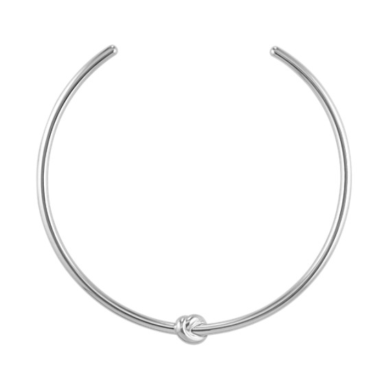 Sterling Silver Knot Necklace (14 in)