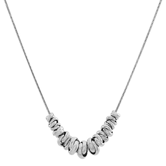 Sterling Silver Knot Necklace (20 in)