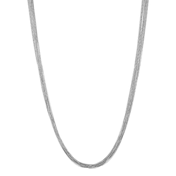 Sterling Silver Layered Chain Necklace (36 in)
