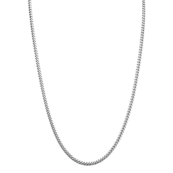 Sterling Silver Mens Curb Chain (24 in)